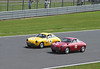 Alfa Romeo Giulietta Sprint Zagatos at  RAC Tourist Trophy for Historic Cars (pre-63 GT) Silverstone Classic July 22 2012
