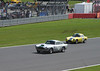 Aston Martin DB4 and 1961 Lotus Elite at RAC Tourist Trophy for Historic Cars (pre-63 GT) Silverstone Classic July 22 2012
