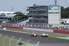Race at RAC Tourist Trophy for Historic Cars (pre-63 GT) Silverstone Classic July 22 2012 view towards Brooklands