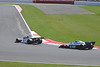 Penske PC3 followed by Tyrrell P34 at The Daily Express International Trophy for Grand Prix Masters Silverstone Classic 2012