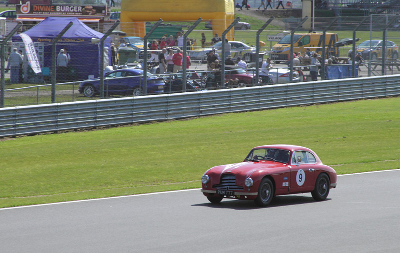 Aston Martin DB2 driven by Paul Chase-Gardener at RAC Woodcote Trophy for Pre-56 Sports cars Silverstone Classic 22 July 2012