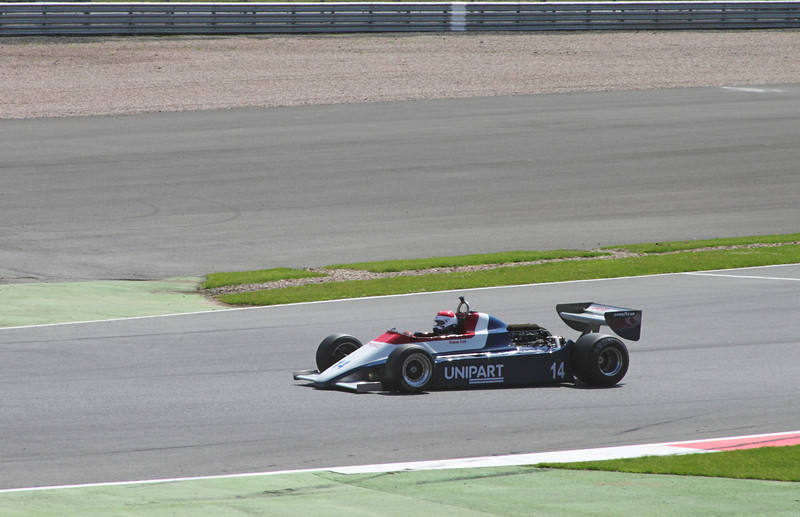 1980 Ensign N180 driven by Simon Fish at Daily Express International Trophy for Grand Prix Masters Silverstone Classic 2012