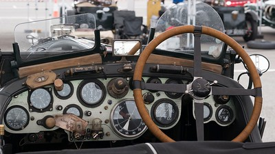 Bentley No 34 Cockpit -  at the Silverstone Classic 2017