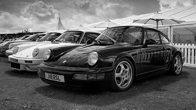 Porsche Gathering at the Silverstone Classic 2017 bw