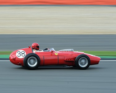 1961 Ferrari Dino BR01 Tony Best  at the Silverstone Classic 2017