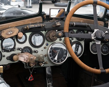 Bentley No 34 Cockpit -  at the Silverstone Classic 2017 2