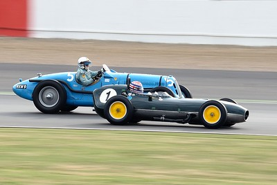 Silverstone Classic 2014 - 1959 Lotus 368 in front of a 1937 Talbot Lago T26SS
