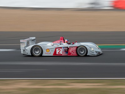 2005 Audi R8 LMP1 Travis Engen - Silverstone Classic 2018