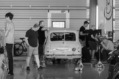 Garage Scene - Silverstone Classic 2018
