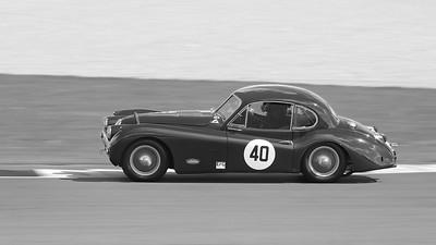 1955 Jaguar XK140 -  Silverstone Classic 2017 -  Carlos Martinez de Campos - Jose Manuel del Los Milagros 1BW