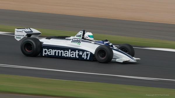 Antione D'Ansembourg  - Brabham BT49 -   Silverstone Classic 2019
