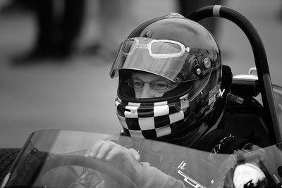 Focussed -  Silverstone Classic 2017 bw