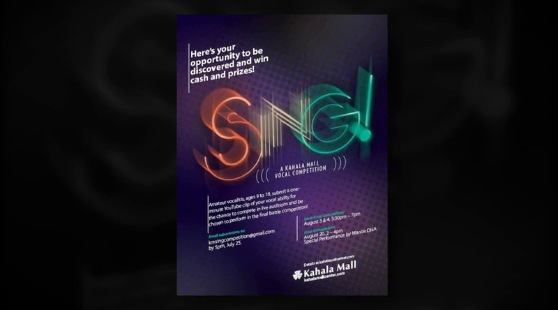 Sing!  Vocal Competition at Kahala Mall