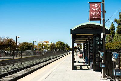 Caltrain station, my first ever Caltrain ride