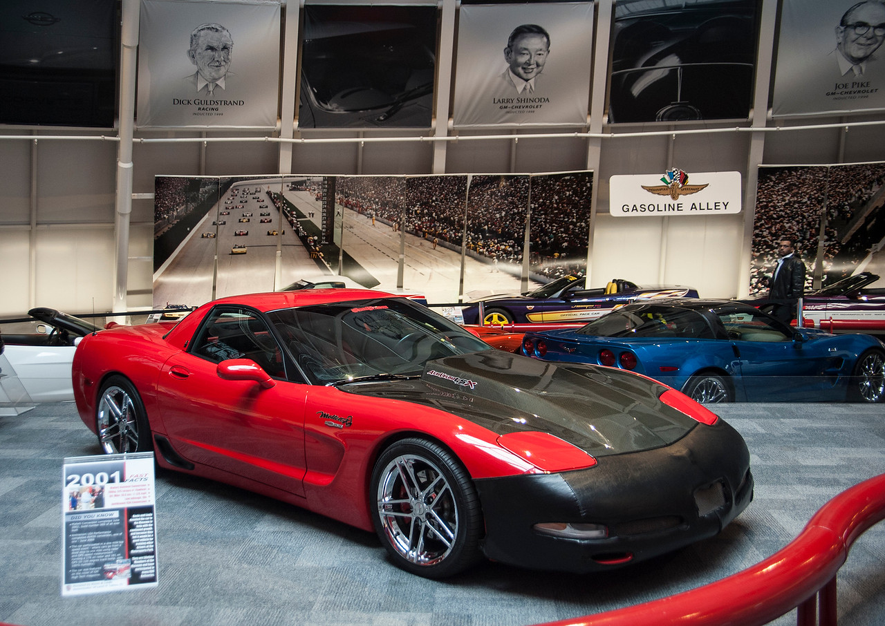 The 2001 Mallet Hammer Z06 on display  Permission given to use this image with credit to the National Corvette Museum