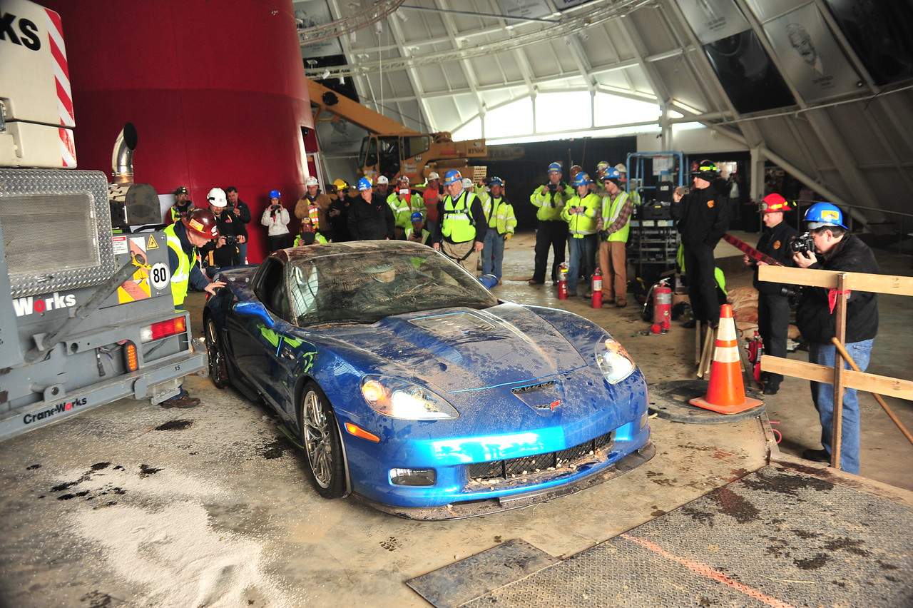 """Starting up the 2009 """"Blue Devil"""" ZR1  Permission given to use this image with credit to the National Corvette Museum"""