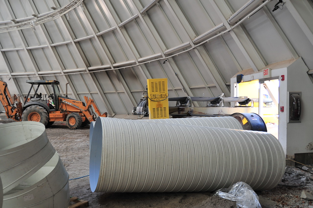Duct work for the Skydome