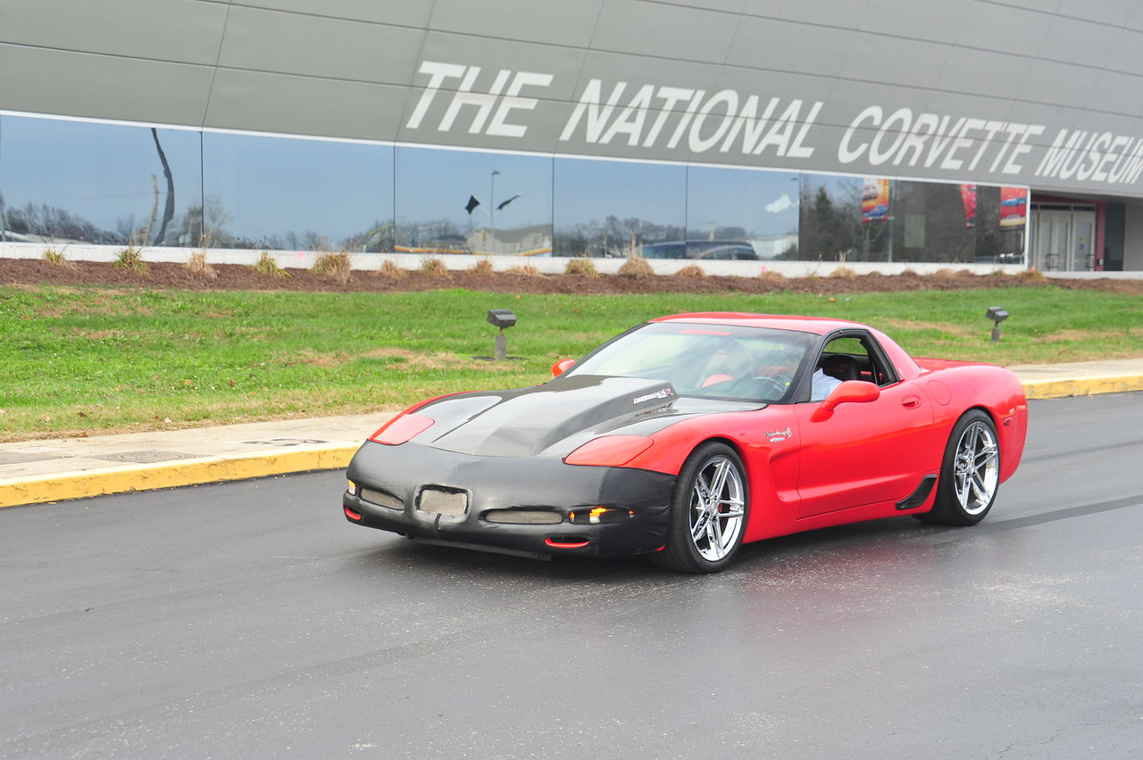 2001 Mallet Hammer Z06 Corvette, driven by donor (and original owner) Kevin Helmintoller.  Permission given to use this image with credit to the National Corvette Museum