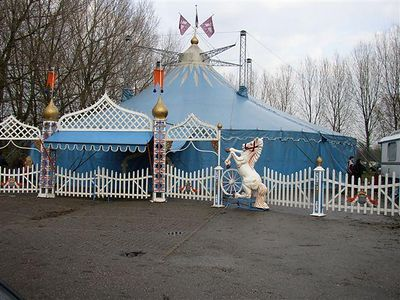 The circus tent where the sinterklaas celebration was held.