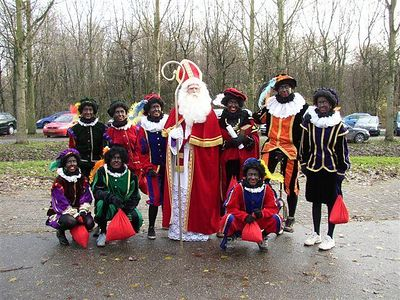 The Sinterklaas team. Rob is the one standing in the back, second from the right.