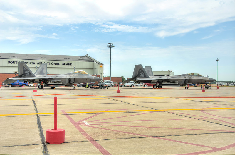 F-22 Raptors On Stand By