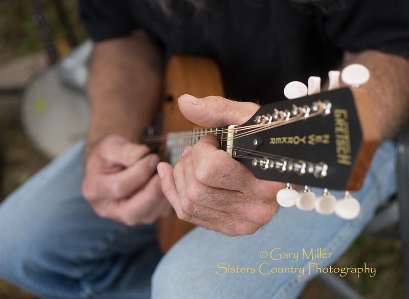 Doug Williams playing mandolin