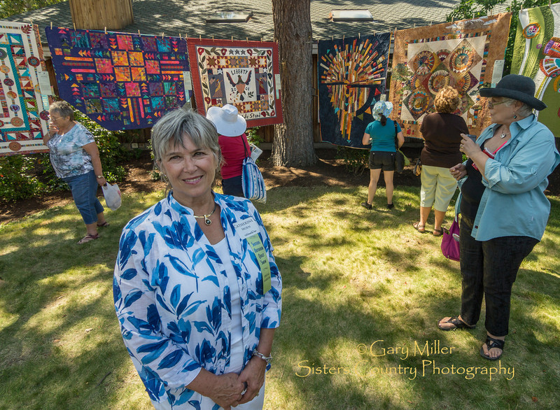 The work of Catherine Moen, Featured Quilter of 2012 - Sisters Outdoor Quilt Show - Sisters, Oregon on July 14, 2012 - Gary N. Miller - Sisters Country Photography