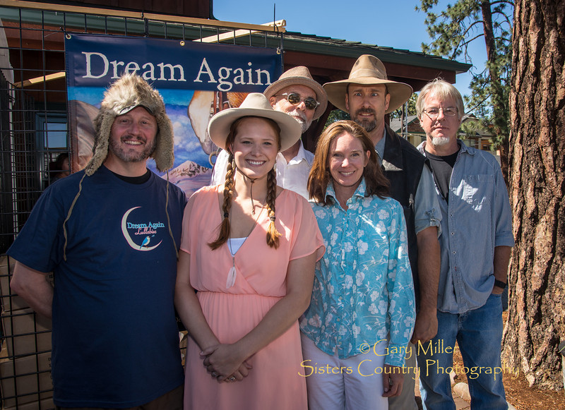 Dennis MdGregor gathered the cast for his children's book Dream Again at the 2013 Sisters Outdoor Quilt Show - The largest outdoor quilt show in the world with over 1,300 quilts on display and was held in Sisters, Oregon on July 13, 2013 - Copyright © 2013 Gary N. Miller, Sisters Country Photography
