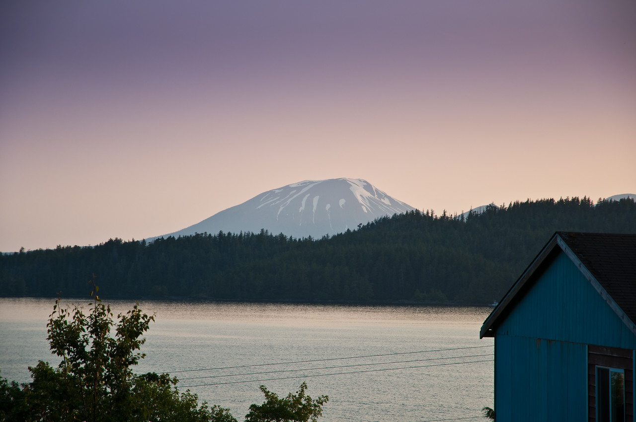 A closer look at the volcano on Baranoff island