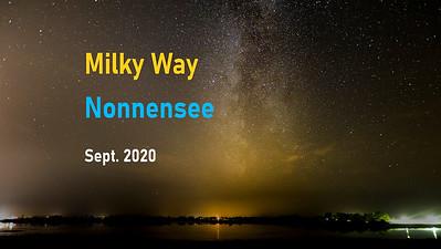Time Lapse of Milky Way, Nonnensee, Rügen