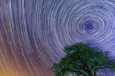 Startrails 2 over Lillinghof, April 30, 2017