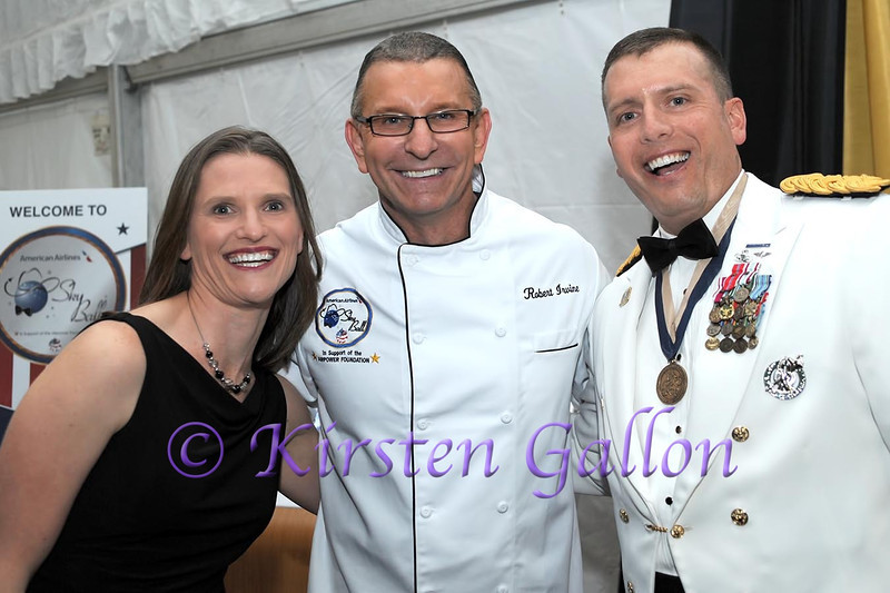SKY BALL 2013   Lt. Colonel Robert S. Patton, Jr. and his wife Christina take time for a photo with celebrity chef Robert Irvine, who planned and oversaw the Sky Ball dinner.