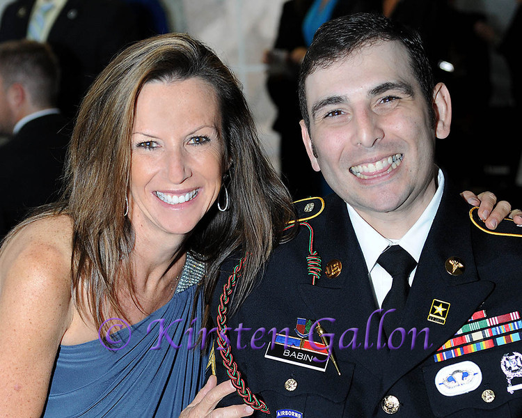 SKY BALL 2013 <br /> TRISH PALMERSHEIM,VIP reception party Chairperson, along with ALAN BABIN, Army veteran.