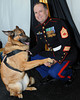 SKY BALL 2013 <br /> Chris Willingham gets his dog Lucca to shake hands.  Lucca lost one of his legs serving our country.