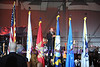 SKY BALL 2013 <br /> America's Tenor, Steve Emerson sings the National Anthem as the ceremony gets underway.