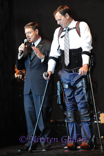 SKY BALL 2013<br /> Mr. Palmersheim announces that the Esko Bionics company is donating the $100,000 walking suit to  veteran Gary Lindt.