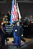 SKY BALL 2013 <br /> The colorguard leaves after the National Anthem.