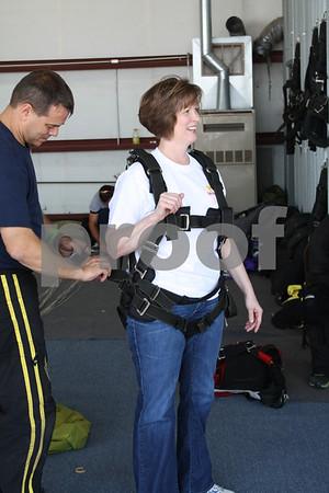 Heidi Eichorn getting ready for her jump
