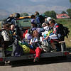 SKYDIVE05.JPG Sky divers ride back to a hangar after attempting to break the world record for the largest formation skydive over Colorado at the Longmont Vance Brand Municipal Airport on September 11, 2009. Seventy six skydivers jumped today as part of that record attempt.