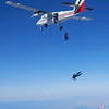 "SKYDIVE03.JPG Skydivers jump out of a plane during an attempt to break the world record for the largest formation skydive at the Longmont Vance Brand Municipal Airport on September 11, 2009. Seventy six skydivers jumped today as part of that world record attempt. Photo by Joe Rogers<br /> Watch a video of the attempt at  <a href=""http://www.dailycamera.com"">http://www.dailycamera.com</a>."