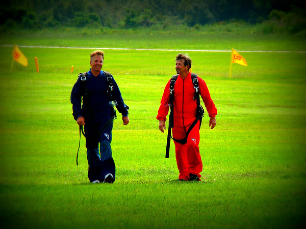 Skydiving birthday brothers