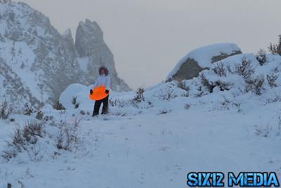 Back country sledding in  Bishop, CA - December 29, 2012