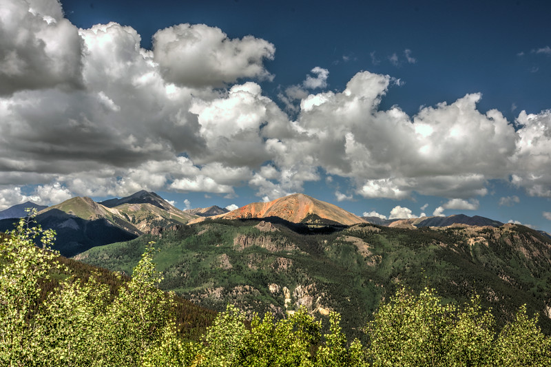 Red mountain from Windy Poin