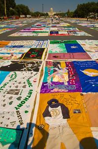 The AIDS Memorial Quilt.