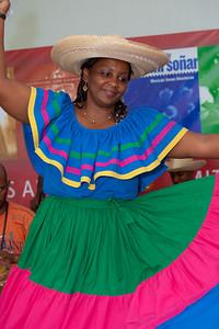 "Gladys ""Titi"" Bazan from Columbia, a member of Currulao Las Cantadoras del Pacifico"