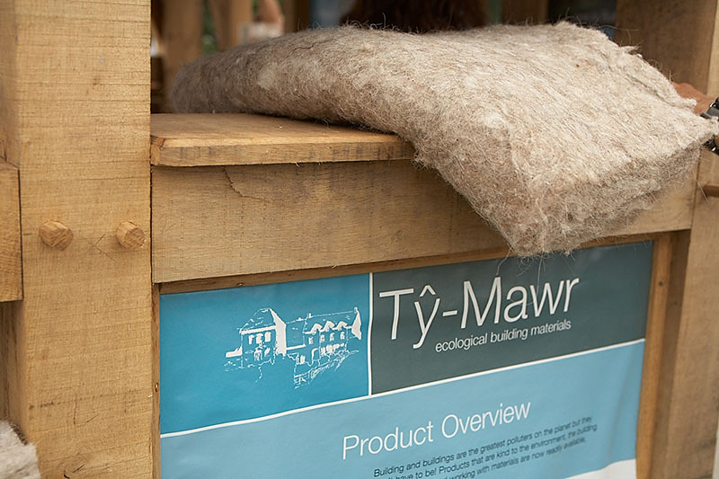 Wool insulation for the walls and roof.