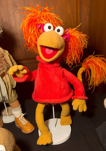 Red Fraggle, a hand and rod puppet created for Fraggle Rock