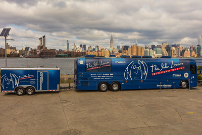 2017_09_30, Brooklyn, NY, Smorgasburg, tents and tours, bus exterior, NY skyline, Canon, OWC, Juniper, Securematics, Yamaha, nearpod, line 6, namm, neutrick, audio technica, genelec, Apple