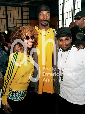 Snoop Dogg, Eric 'Lil Eazy E' Wright Jr. and Menyone Deveaux