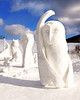 Newly created snow sculptures stand at the base of Black Mountain Ski Area, in Jackson, NH, which hosted the annual New Hampshire Sanctioned Jackson Snow Sculpting Invitational, from January 27th - January 29th, 2012.
